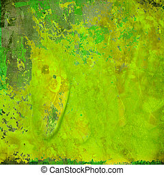 Colorful Green Grunge Abstract Background