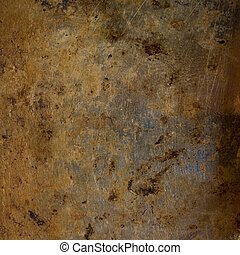 Grungy Rusted Steel Background with Text Space