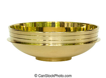 Brass Bowl from India Isolated with Clipping Path