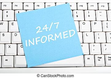 24/7 informed message - 24/7 informed mesage on keyboard