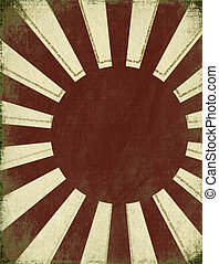 Antique Rising Sun Background with Text Space