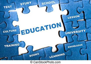 Quebra-cabeça, Educação