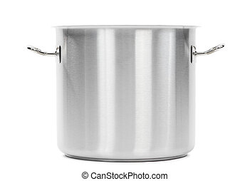 metal cooker pot isolated - one professional metal pot...