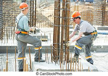 construcción, trabajadores, Elaboración,...