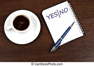 Yes|No message