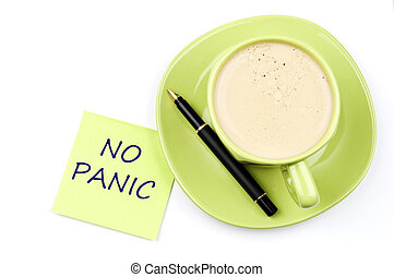 No panic note and coffee