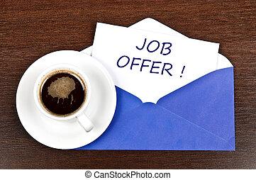 Job offer message
