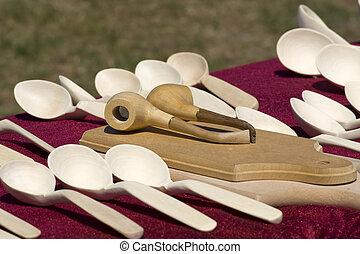 de madera, artesanías