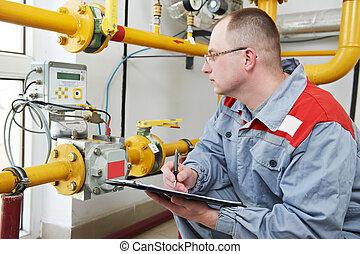 heating engineer in boiler room - maintenance engineer...