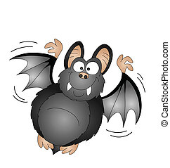 vampire bat - Halloween cartoon vampire bat isolated on...