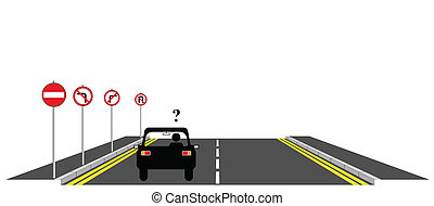 no where to go - Confused motorist with no where to go
