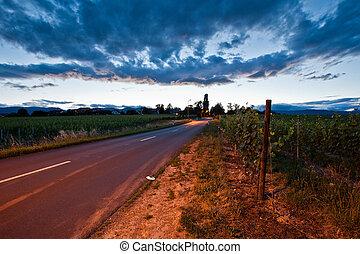 Swiss rural road