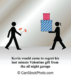 Valentine gift - Kevin would come to regret his last minute...