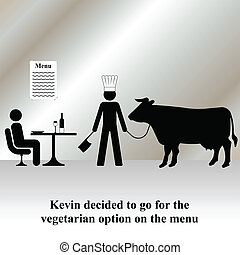 vegetarian menu - Kevin decided to opt for the vegetarian...