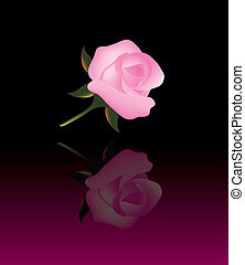 vector abstract background with pink rose