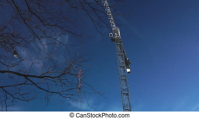 Crane Lift - Gantry Crane On A Construction Site