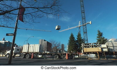 Crane Lifting Supplies - Gantry Crane On A Construction Site