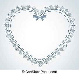 lace ornaments and heart - Beautiful background with lace...