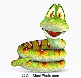 toon snake - 3d