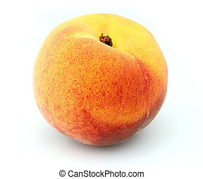 Sweet peach on a white background