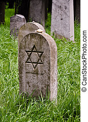 lone headstone on a jewish cemetary - a lone headstone on a...