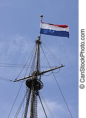 Reconstruction of the VOC ship The Batavia - Mast and crow's...