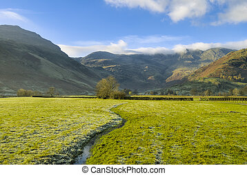 Small stream in Langdale - A small stream at the head of...