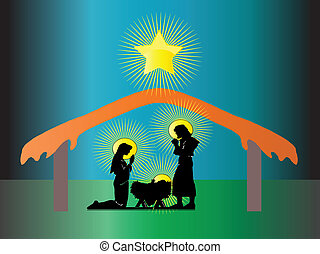 Nativity of Jesus in Christmas