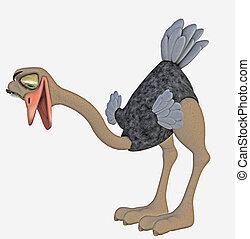 toon ostrich - 3d