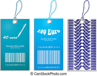 set of price tags with tire design