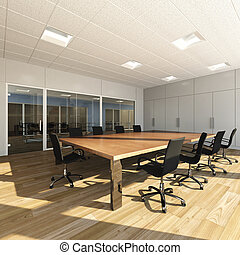 Meeting room - Rendering of modern meeting room