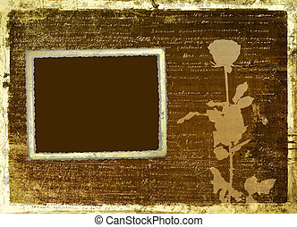 Ancient scratch abstract background with handwrite text for design