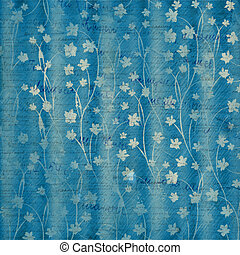 abstract blue floral background for cover or album