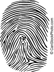 Fingerprint - Criminal fingerprint for detective, sequrity...