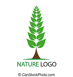Nature logo isolated on white background