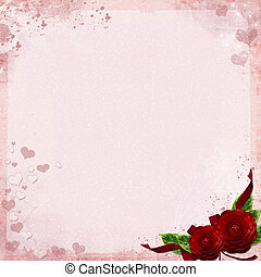 Greeting card or background with roses