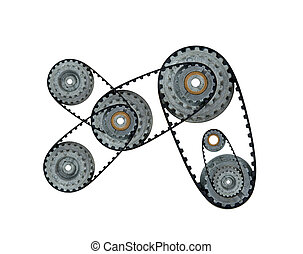cogwheels on a white background
