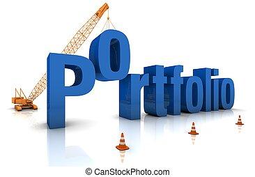 Building a Portfolio - Construction site crane building a...