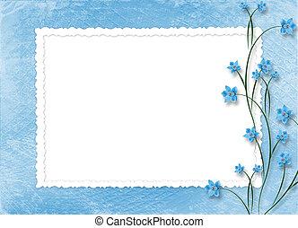 cadre, photos, résumé, fond, orchidées