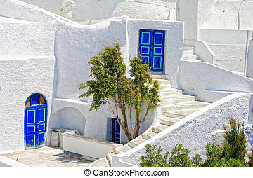 Santorini island Greece - view of Santorini island Greece