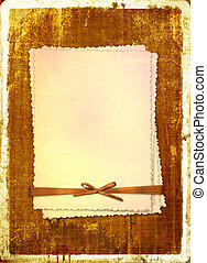 Grunge alienated card from old paper on the abstract...