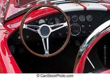 dashboard of a sports car - dashboard of a convertible...