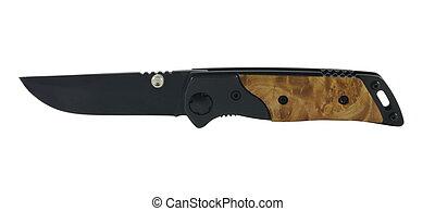pocket knife - closeup of black pocket knife