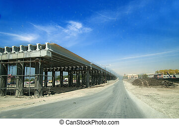 Highway development - construction of a Highway next to the...