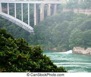 Peace Bridge County - Peace Bridge in Niagara Falls Canada...