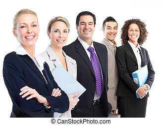 Business people team - Group of smiling business people...