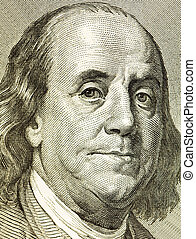 franklin - Portrait franklin from a denomination in 100...