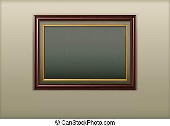 Wooden framework - Wooden antique framework for picture on...