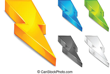 Color lighting - Powerful lighting symbol in different...