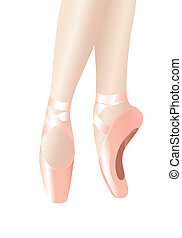 Ballet legs - Vector illustration depicting the legs of a...